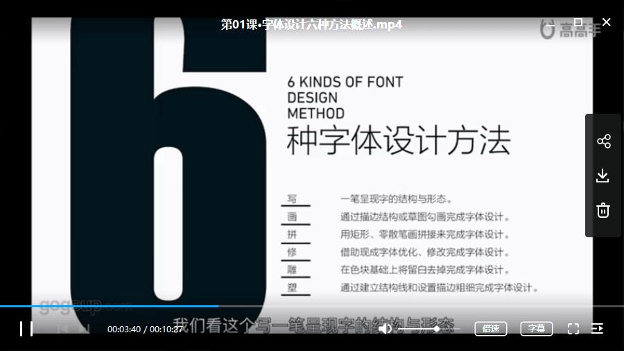 开心老头-字体设计六脉神剑